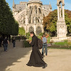 Priest at Notre Dame cathedral