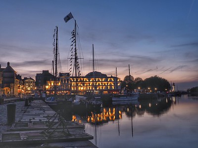 Honfleur Harbor, France.