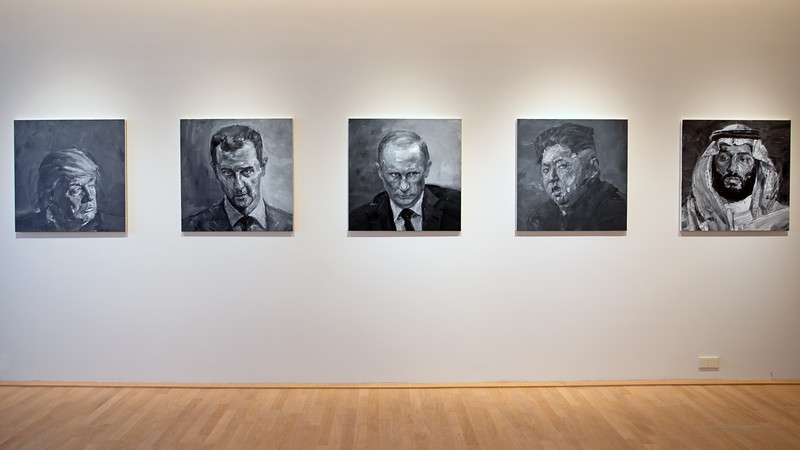 Dijon Musee Beaux Arts Yan Pei-Ming Dictators (3070) Marked