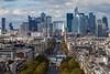Paris View of La Defense From L'Arc De Triomphe Medium Long (6920) Marked