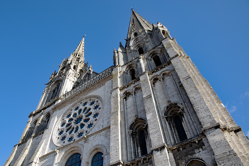 Chartres Cathedral At Sunset (6639) Marked