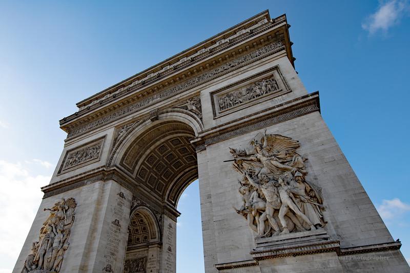 Paris Arc De Triomphe View #3 (6982) Marked