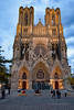 Reims Cathedral Notre Dame de Reims Sunset (2942) Marked