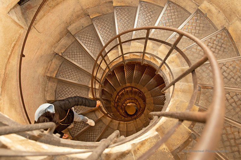 Paris Arc De Triomphe Spiral Staircase Down (6967) Marked