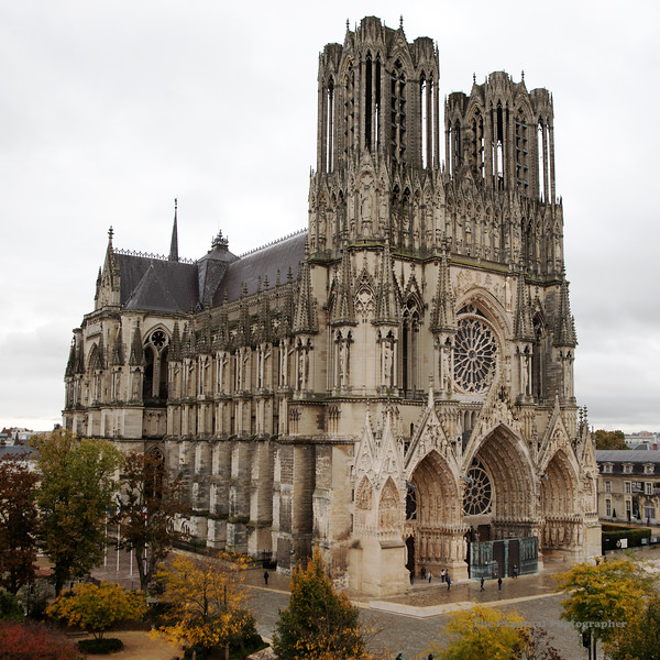 Reims Notre Dame De Reims On White Square (3058) Marked