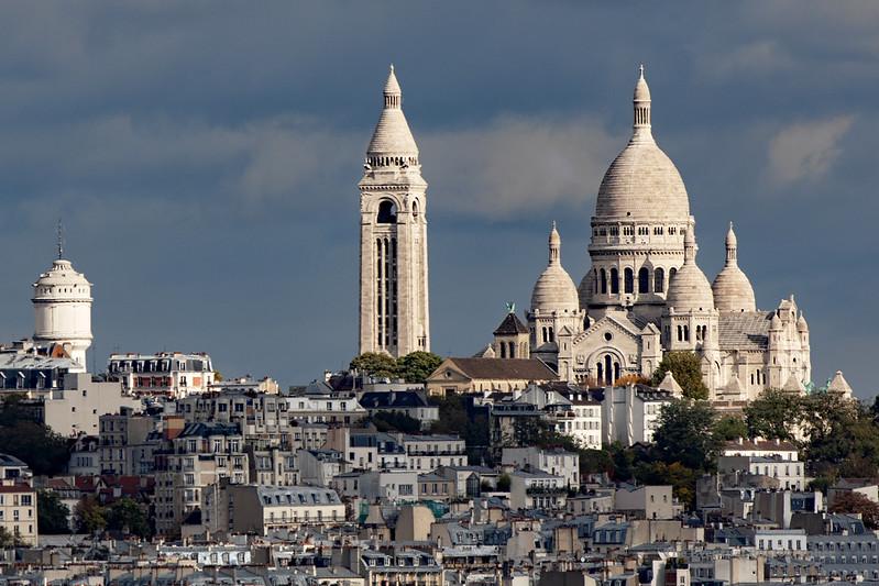 Paris View of Montmartre From L'Arc De Triomphe Superlong (6917) Marked