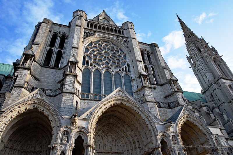 Chartres Cathedral Exterior View #6 (6562) Marked