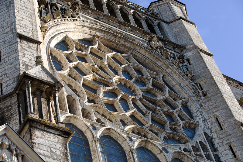 Chartres Cathedral Exterior View #14 (3173) Marked