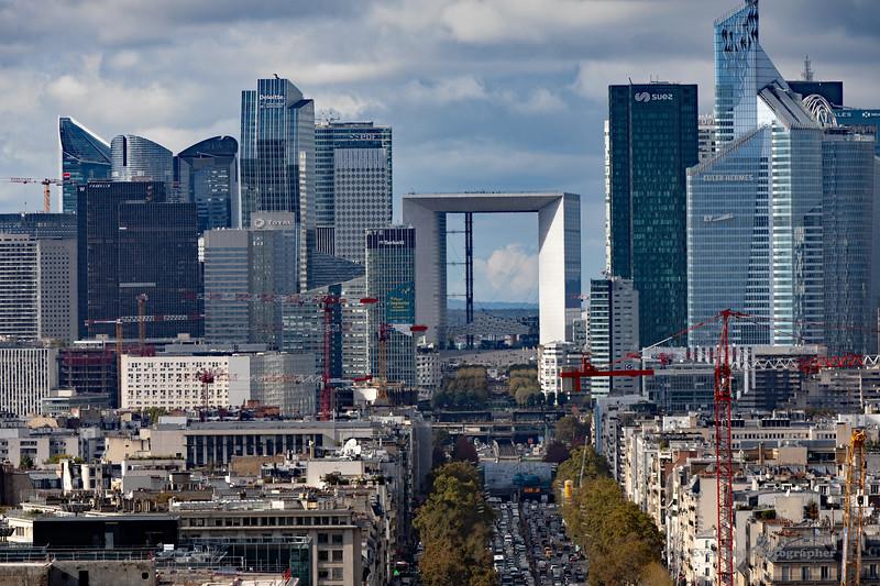 Paris View of La Defense From L'Arc De Triomphe Superlong (6907) Marked
