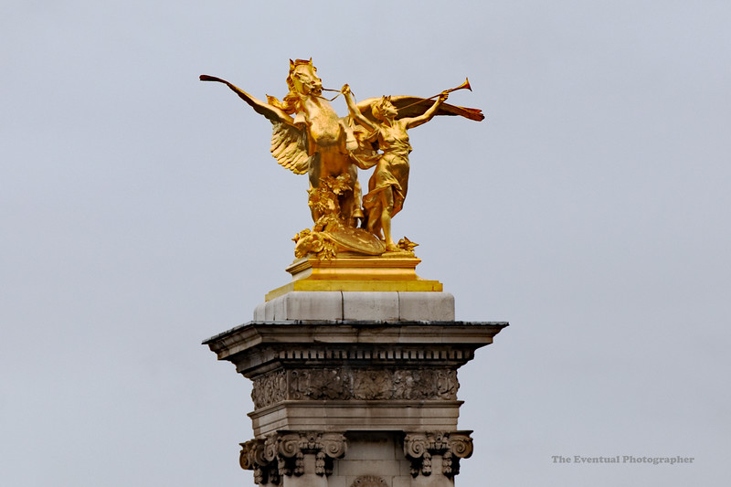 Paris La Grande Palais Sculpture Closeup (6841) Marked