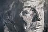 Dijon Musee Beaux Arts Yan Pei-Ming Trump Closeup (3079) Marked