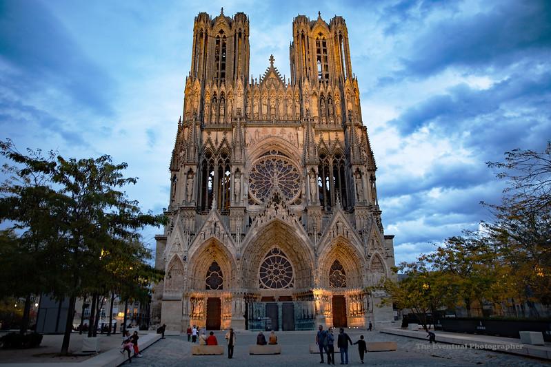 Reims Cathedral Notre Dame de Reims Landscape Pre Sunset (2941) Marked
