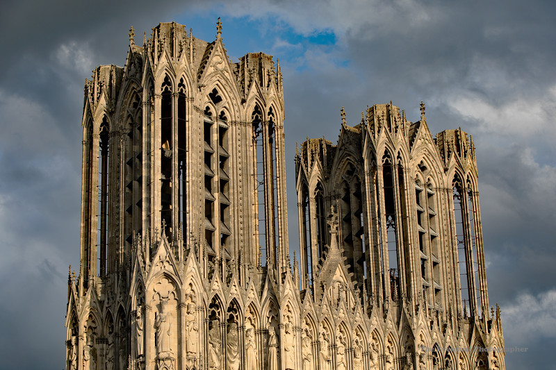Reims Cathedral Notre Dame de Reims Upper Columns (2923) Marked
