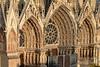 Reims Cathedral Notre Dame de Reims Sunset Light Closeup (2922) Marked