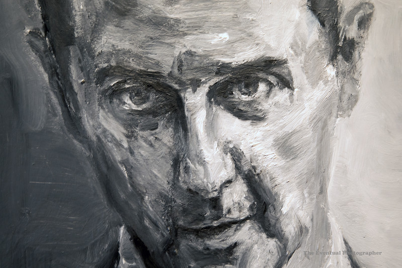 Dijon Musee Beaux Arts Yan Pei-Ming Assad Closeup (3078) Marked