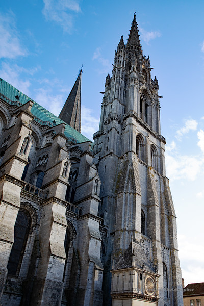 Chartres Cathedral Exterior View #7 (6568) Marked
