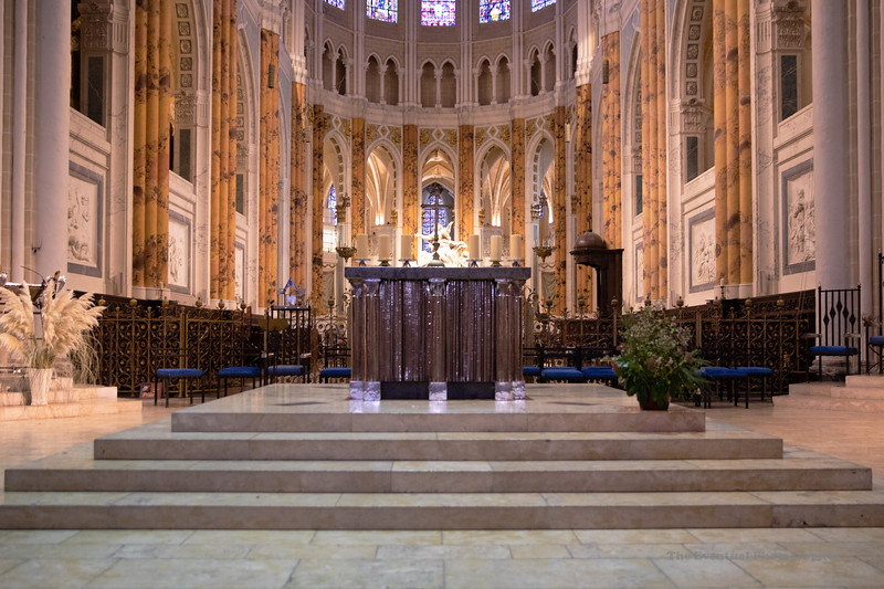 Chartres Cathedral Interior View #6 (6600) Marked