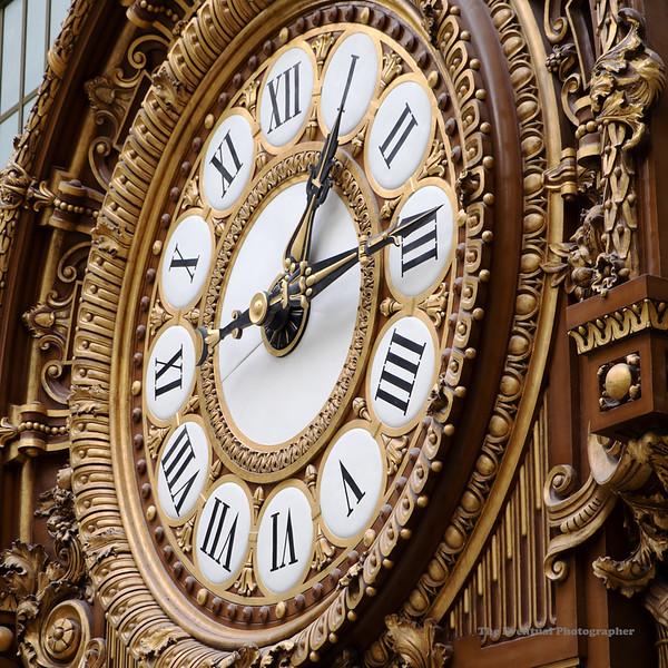 Paris Musee D'Orsay #2 Clock Closeup (6745) Marked