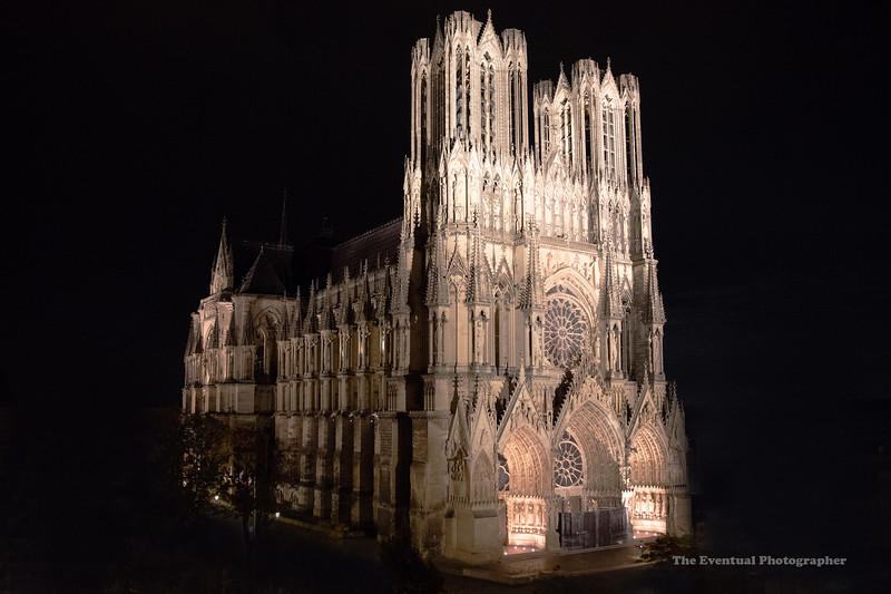 Reims Cathedral Notre Dame de Reims Night Shot (2945) Marked