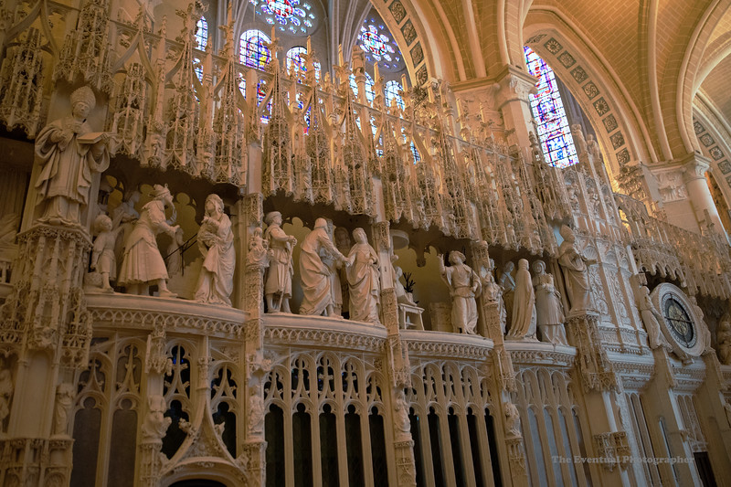 Chartres Cathedral Interior View #7 (6602) Marked