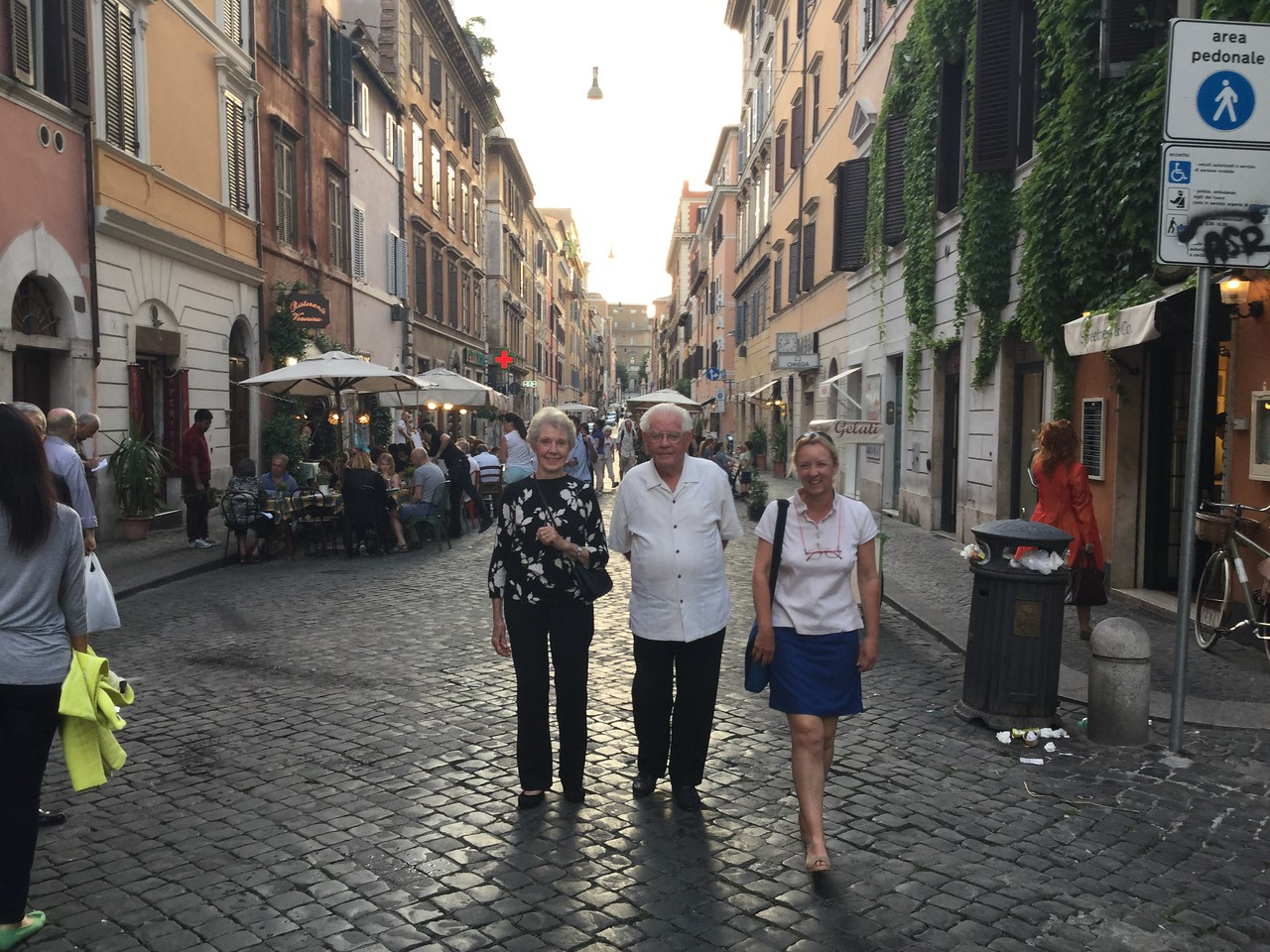 Off to dinner just outside the Vatican walls