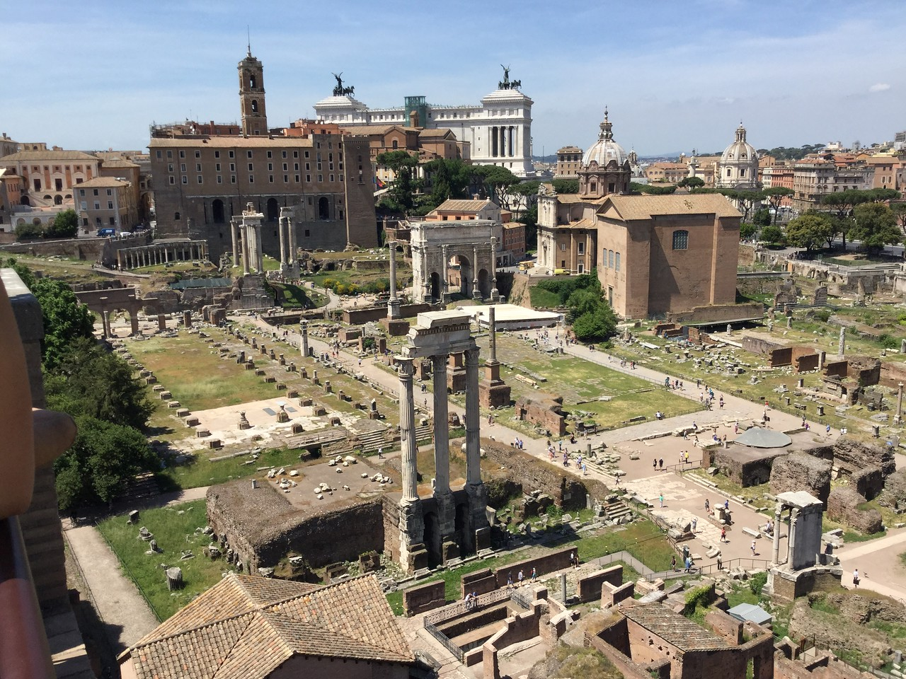 The Roman Forum - near the colesseum