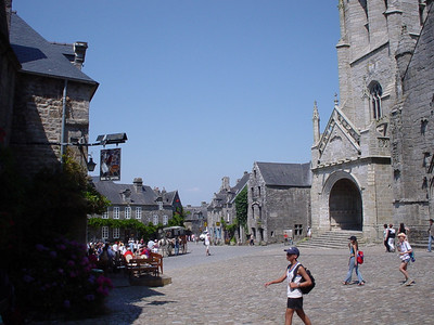 Across the Square at Locronan  Pic of the main square in Locronan.