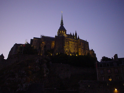 Light the Abbey  As dusk fell, the lights of the Abbey were turned on.