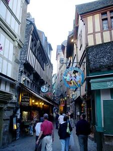 Narrow Street  Mont-St-Michel has a lot of very narrow streets.