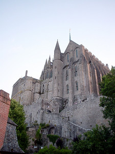 The Abbey  A closer look of the Abbey on the Mont-St-Michel island.