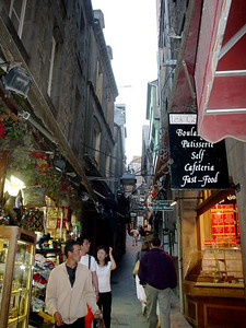 Steep Street  Not only are the streets narrow, they're pretty steep too.  Not a place to take granny and her chariot.