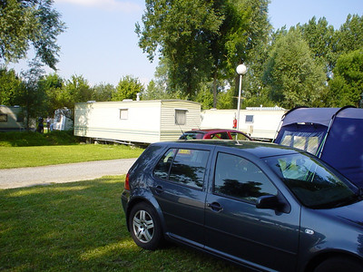 Close Proximity  Just as we finished setting up, I heard someone calling my name.  As luck would have it Ian and Judith had chosen the same site as us and their caravan pitch was very close to ours.  Not planning what so ever.