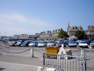 St Malo  This is a pic of the old town part of St Malo taken across the car park.
