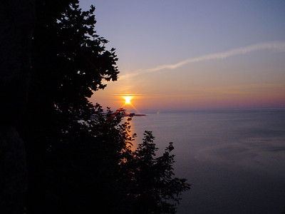 Another Sunset Shot  Taken from up on the island.  Couldn't see round the folage, so I included it.