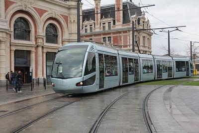 Tramway de Valenciennes M102 Place de la Gare Valanciennes 2 Apr 13