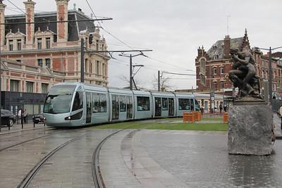 Tramway de Valenciennes M102 Place de la Gare Valanciennes 1 Apr 13