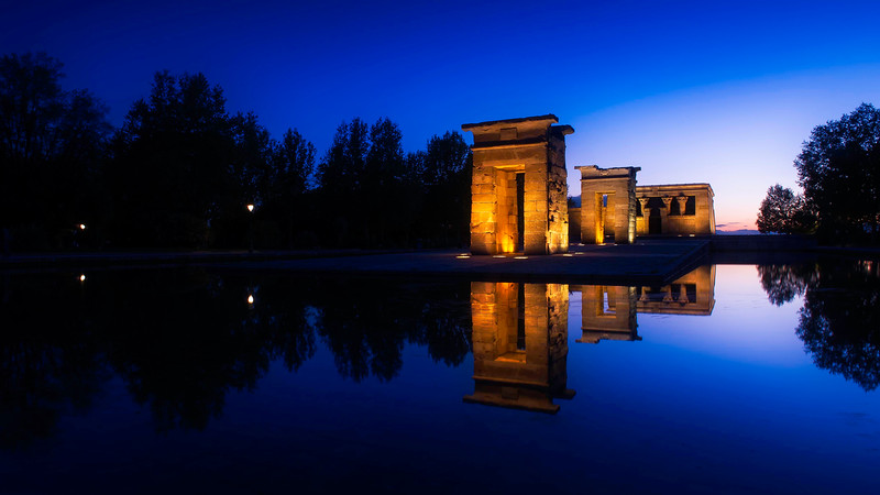 Templo de Debod; Madrid; Spain