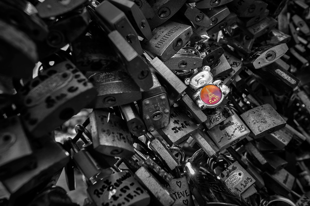 Padlocks; Pont des Arts; Paris France