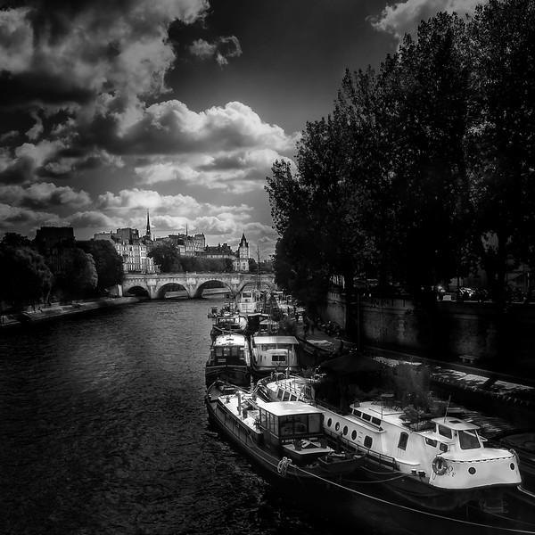 Pont Neuf from Pont des Arts; River Seine; Paris; France