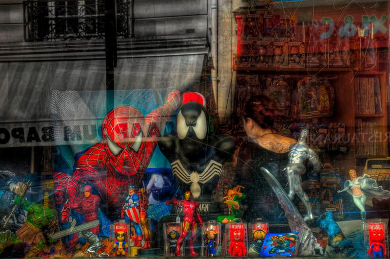Superman; Comic Shop; Paris; France