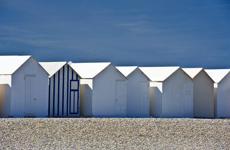 Beach huts; Mers-les-Bains; Hauts-de-France; France