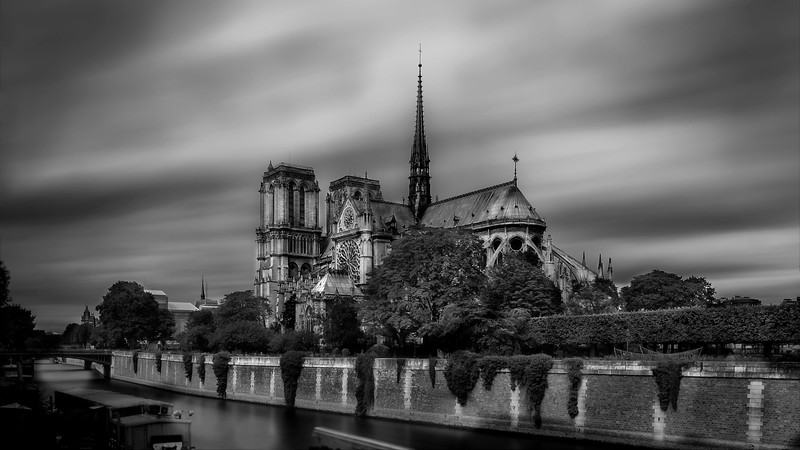 Notre Dame; River Seine; Paris; France