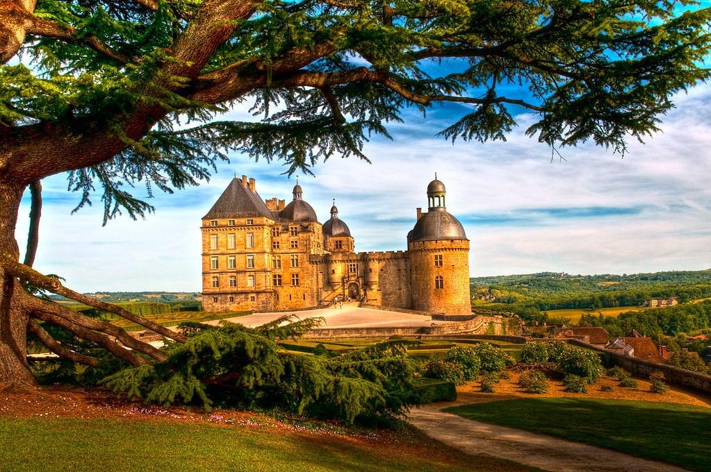 Hautefort castle; Dordogne; France