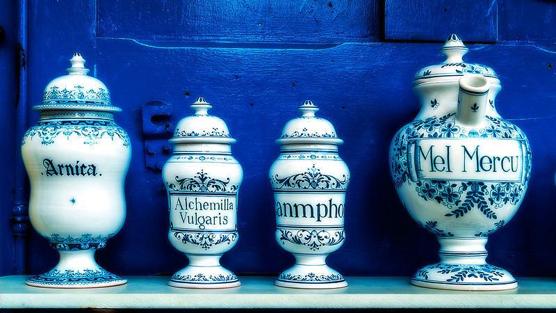 Medicinal Herb Containers; France