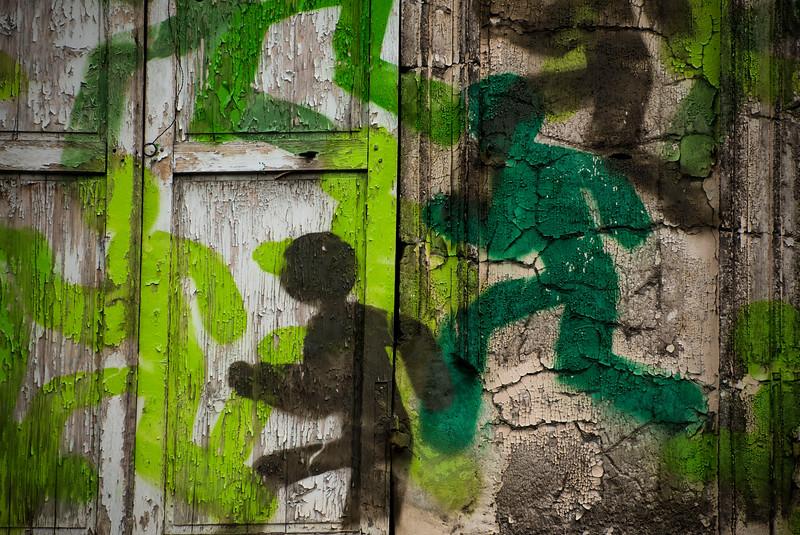 Emergency Exit; Graffiti; Paris; France