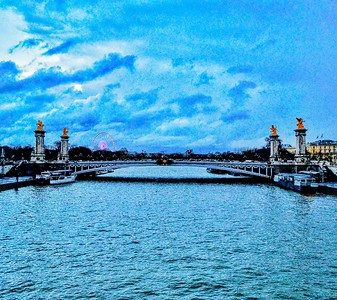 """La Magnifique Seine dans les Nuages - The Magnificent Seine in the Clouds"" - Paris"