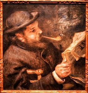 """""""Claude Monet Reading"""" - 1872- Pierre Auguste Renoir (1841-1919) - Marmottan Monet Museum - Paris"""