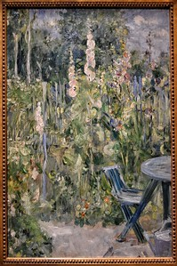 """Roses Tremieres"" (Hollyhocks) - Berthe Morisot - Musée Marmottan Monet - Paris"
