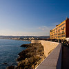 Walking from the port towrds the Promenade des Anglais