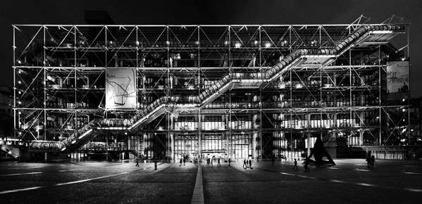 Centre Pompidou - 5 photo stitch